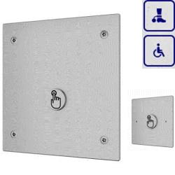 System spłukiwania toalet wykorzystujący ciśnienie z sieci o podwyższonym stopniu wandalizmu z dodatkowym przyciskiem dla osób niepełnosprawnych AKC14036