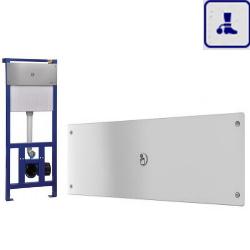 System spłukiwania toalet ze stelażem i zbiornikiem o podwyższonym stopniu wandalizmu AKC14026