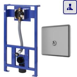 System spłukiwania toalet ze stelażem o podwyższonym stopniu wandalizmu, kontrola stanu baterii AKC04104