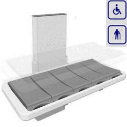 Łóżko prysznicowe z elektryczną regulacją wysokości 146cm 40-25023