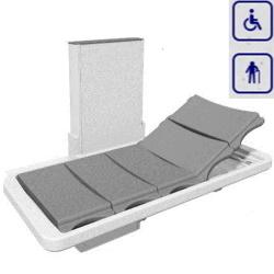Łóżko prysznicowe z zagłówkiem i elektryczną regulacją wysokości 146cm 40-25073