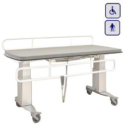 Mobilny przewijak pielęgnacyjny z elektryczna regulacją wysokości i osłoną bezpieczeństwa 140x70cm 40-30406