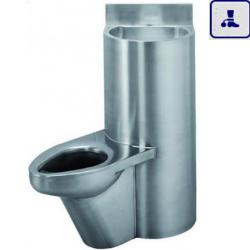 Moduł kompaktowy lewostronny z powłoką antybakteryjną, podwieszana umywalka oraz miska WC o podwyższonym stopniu wandalizmu AKC670740L