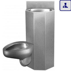 Moduł kompaktowy lewostronny, podwieszana umywalka oraz miska WC o podwyższonym stopniu wandalizmu AKC670703L
