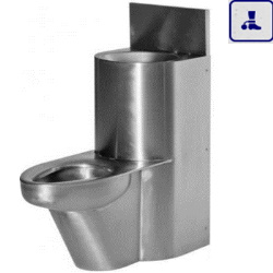 Moduł kompaktowy z elektromagnetyczną regulacją PIEZO, podwieszana umywalka oraz miska WC o podwyższonym stopniu wandalizmu AKC670801