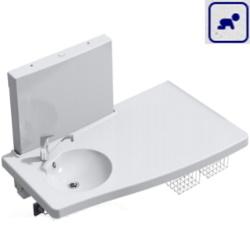 Przewijak dla dzieci z umywalką i elektryczną regulacją wysokości. Ogranicznik bespieczeństwa. 50-50676