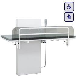 Przewijak pielęgnacyjny z elektryczną regulacją wysokości i osłoną bezpieczeństwa 140x70cm 40-30806