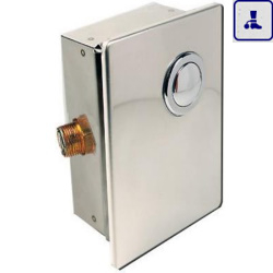 System spłukiwania do toalet podtynkowy z zaworem odcinającym wodę o podwyższonym stopniu wandalizmu AKC07082.B