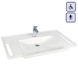 Umywalka z uchwytami dla osób niepełnosprawnych PMR 850/550/1