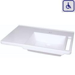Umywalka z uchwytami dla osób niepełnosprawnych z umywalką po prawej stronie WMB803R