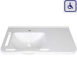 Umywalka z uchwytami dla osób niepełnosprawnych z umywalką po lewej stronie WMB802L