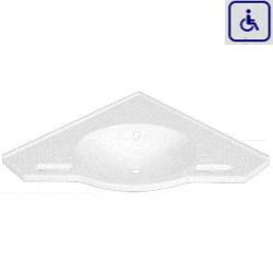 Umywalka narożna z uchwytami dla osób niepełnosprawnych WMBEW