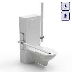 Stelaż z elektryczną regulacją wysokości do miski WC. Uruchamiany za pomocą pilota 40-45020