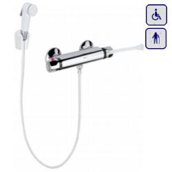 Bateria prysznicowa termostatyczna z uchwytem lekarskim i słuchawką bidetką AKC9004