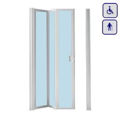 Drzwi prysznicowe do wnęki dla seniorów oraz osób niepełnosprawnych DW120x185