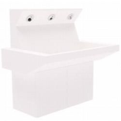 Multifunkcyjna umywalka z szafką, suszarką, dozownikiem mydła oraz armaturą AKC10570