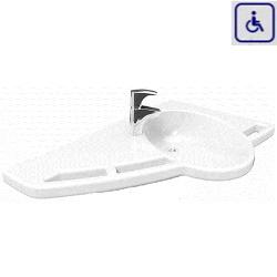Umywalka z uchwytami dla osób niepełnosprawnych model lewostronny 40-44010