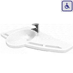 Umywalka z uchwytami dla osób niepełnosprawnych model prawostronny 40-44011