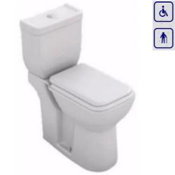 WC kompakt dla seniorów oraz osób niepełnosprawnych z odpływem poziomym 00155
