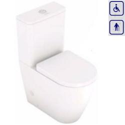 WC kompakt dla seniorów oraz osób niepełnosprawnych z odpływem poziomym 00281H