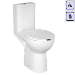 WC kompakt dla seniorów oraz osób niepełnosprawnych z odpływem poziomym 0221