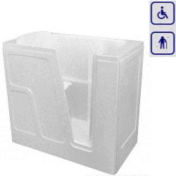 Wanna siedząca z drzwiami umiejscowionymi prawostronnie CLARA 1150x660mm