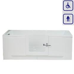 Wanna z drzwiami szkalnymi umiejscowionymi centralnie PERFECT 1600x700mm