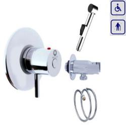 Zestaw bidetowy podtynkowy termostatyczny z słuchawką bidetką 0283