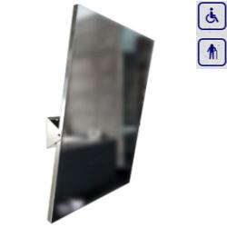 Lustro uchylne w ramie ze stali nierdzewnej w połysku dla seniorów oraz osób niepełnosprawnych 800×600 80600