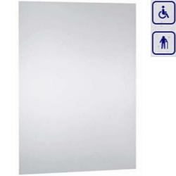 Lustro ze stali nierdzewnej polerowanej wandaloodporne dla seniorów oraz osób niepełnosprawnych 700×500 8071