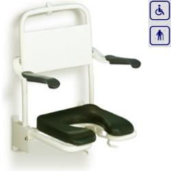 Miękkie siedzisko prysznicowe z oparciem i podłokietnikami LI2223