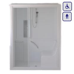 Moduł kabinowo-wannowy dla seniorów oraz osób niepełnosprawnych LEWY 1400×700 ENERGY14