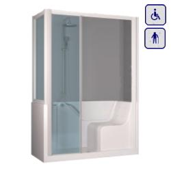 Moduł kabinowo-wannowy dla seniorów oraz osób niepełnosprawnych LEWY 1400×700 SUPERIOR14