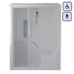 Moduł kabinowo-wannowy dla seniorów oraz osób niepełnosprawnych LEWY 1500×700 ENERGY15