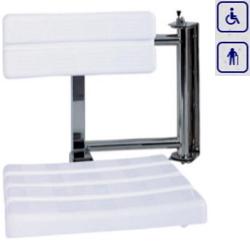 Siedzisko prysznicowe składane obrotowe prawe z oparciem AKC12.218.05.1000
