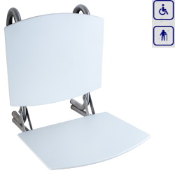 Siedzisko prysznicowe składane z oparciem 15042MOV