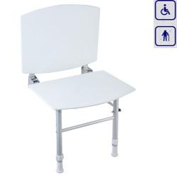 Siedzisko prysznicowe składane z oparciem i nogami 15042PAT