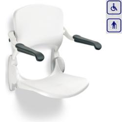 Siedzisko prysznicowe składane z oparciem i podłokietnikami LI220306