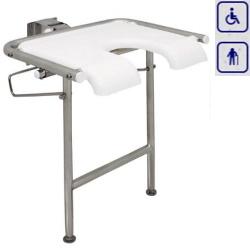 Siedzisko prysznicowe składane z przednim otworem higienicznym AKC12.224.00.1000
