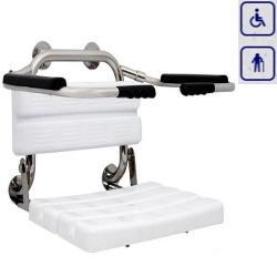 Siedzisko prysznicowe z oparciem i podłokietnikami AKC12.222.03.1000