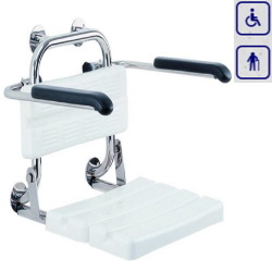Siedzisko prysznicowe z oparciem i podłokietnikami AKC12.222.02.1000