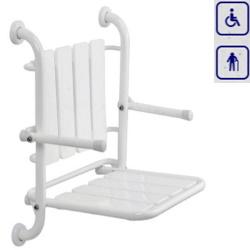 Siedzisko prysznicowe składane z oparciem i podłokietnikami SSBI