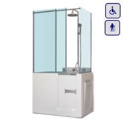 Wanna z drzwiami i zabudową kabinową dla seniorów oraz osób niepełnosprawnych 1000×700 SMALL PLUS
