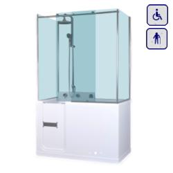 Wanna z drzwiami i zabudową kabinową dla seniorów oraz osób niepełnosprawnych 1200×700 RELAX PLUS