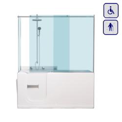 Wanna z drzwiami i zabudową kabinową dla seniorów oraz osób niepełnosprawnych 1500×700 COMFORT PLUS15