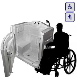 Wanna siedząca z drzwiami przystosowana dla osób na wózku inwalidzkim 1100×700 RATANGOLA