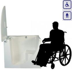 Wanna siedząca z drzwiami przystosowana dla osób na wózku inwalidzkim 1245×700 SW2