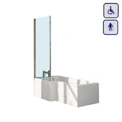 Wanna z drzwiami i parawanem uniwersalna 1700x700mm GROVE