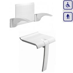 Zestaw siedzisko prysznicowe składane z podpórką oraz oparcie z uchwytami ARSIS 47720