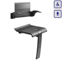 Zestaw siedzisko prysznicowe składane z podpórką oraz oparcie z uchwytami ARSIS 47723